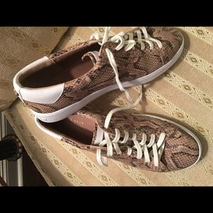 Cole haan snake skin sneakers size 9